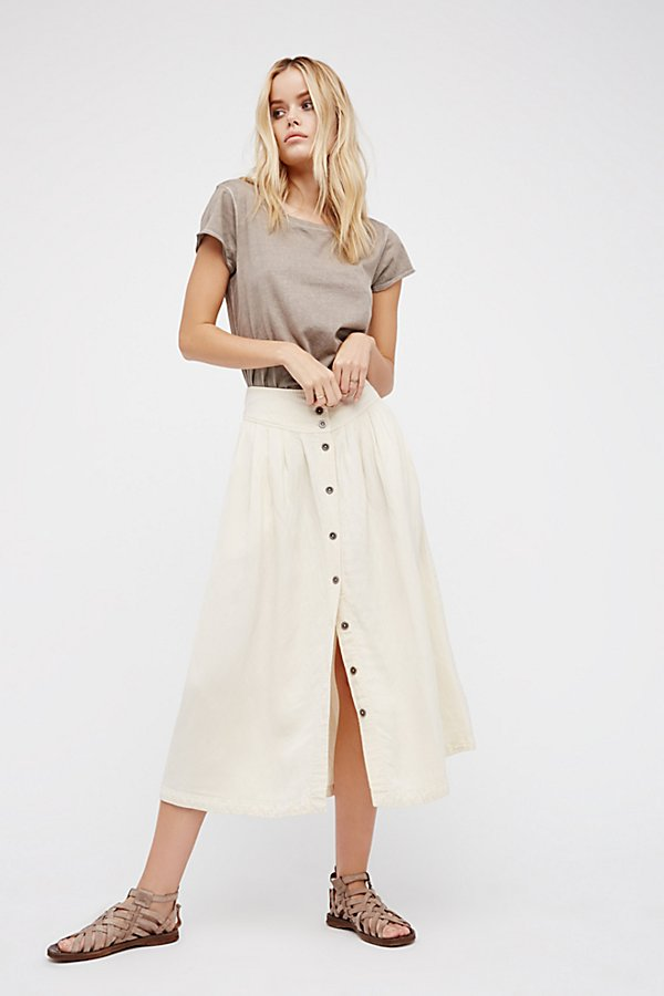 Slide View 2: Sunday Stroll Midi Skirt
