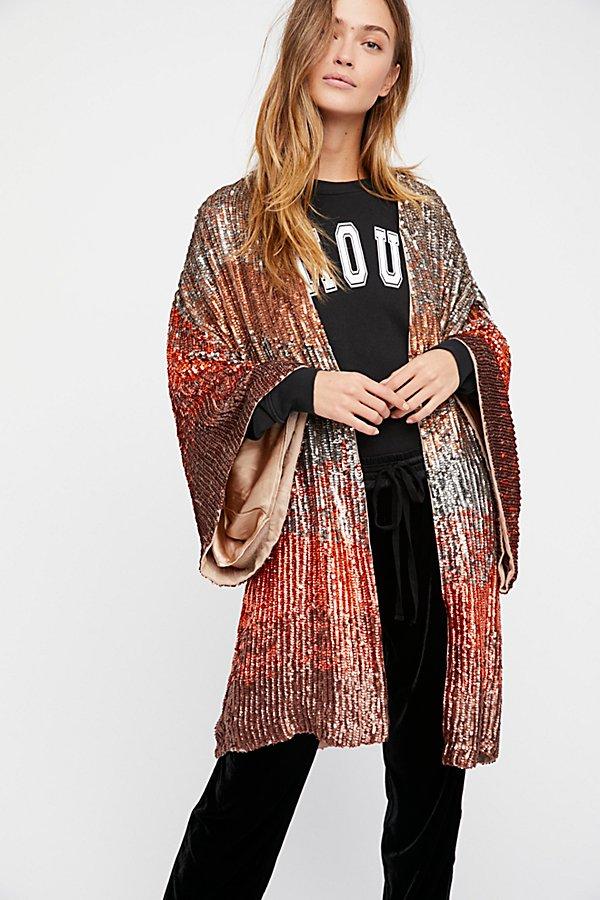 Ombre Sequin Kimono | Free People
