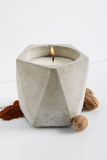 Cement Candle Pentagon