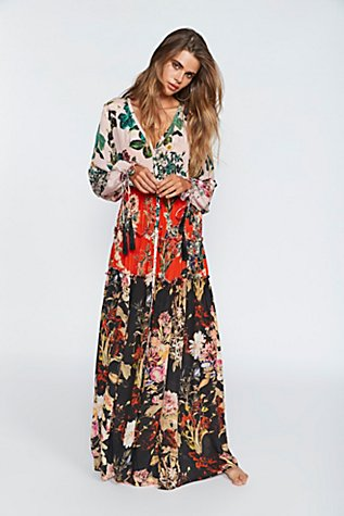 Mixed Floral Maxi Dress | Free People