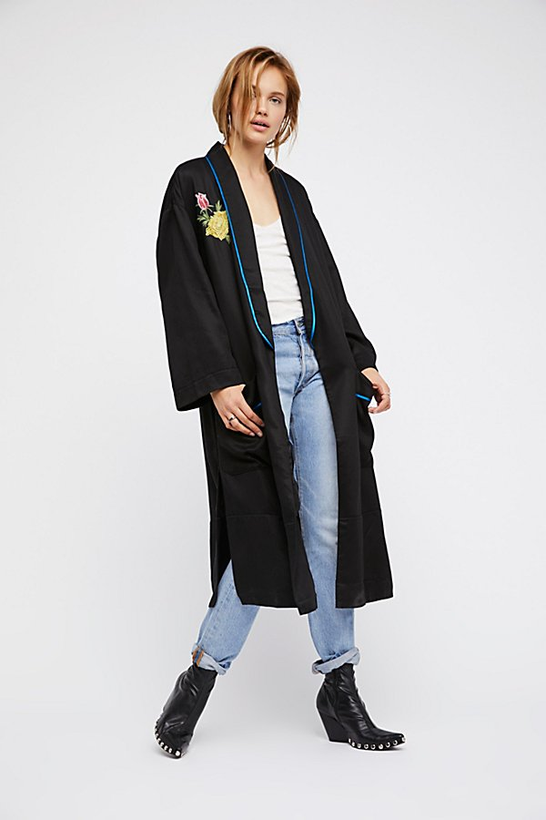 Slide View 2: Embroidered Slouchy Duster