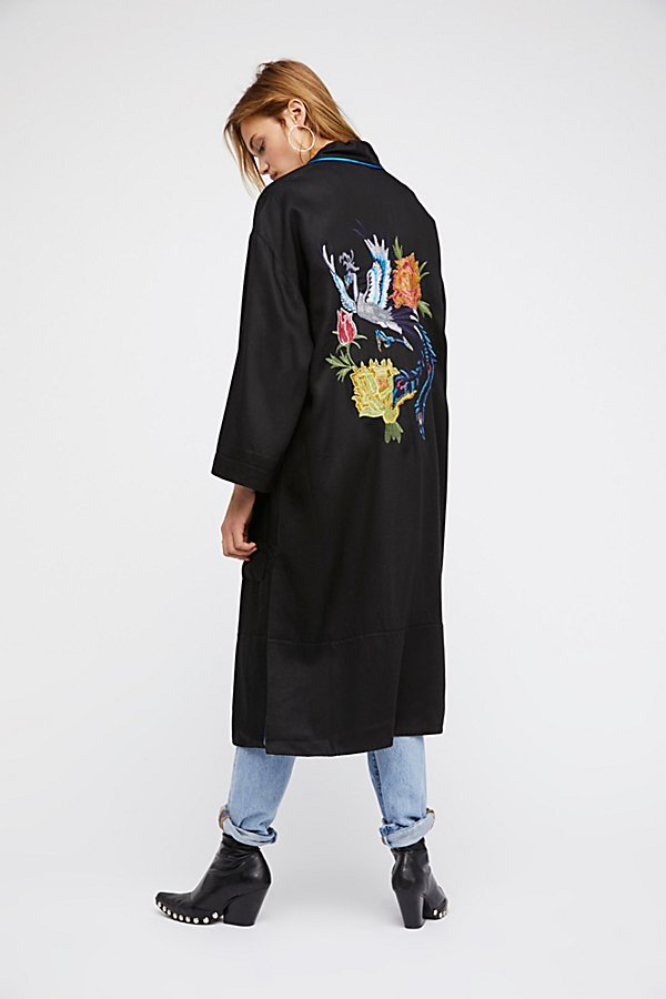 Slide View 4: Embroidered Slouchy Duster