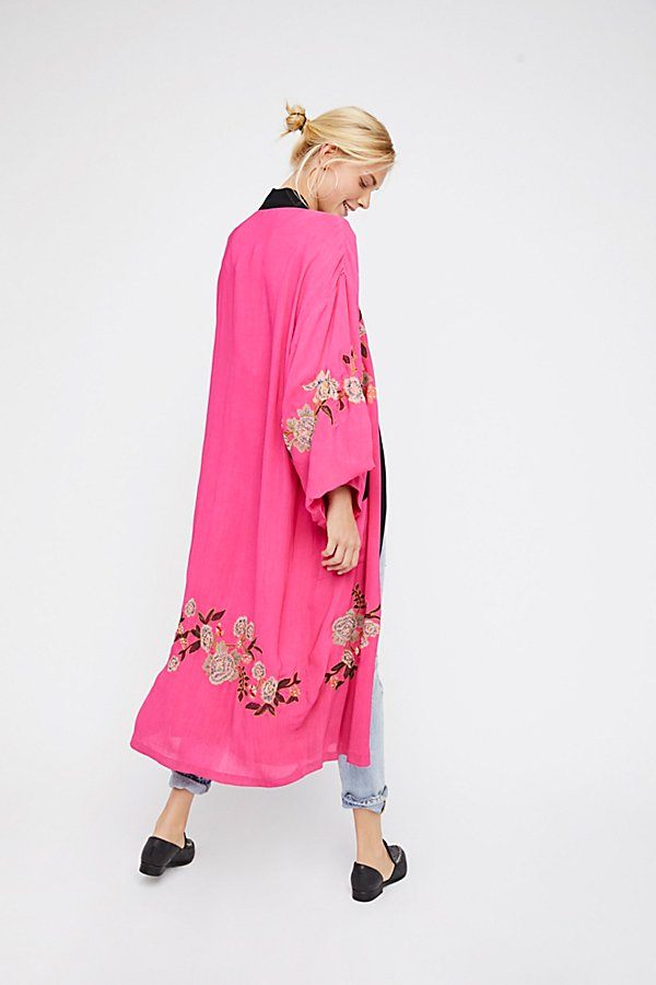 Slide View 2: Floral Embroidered Kimono