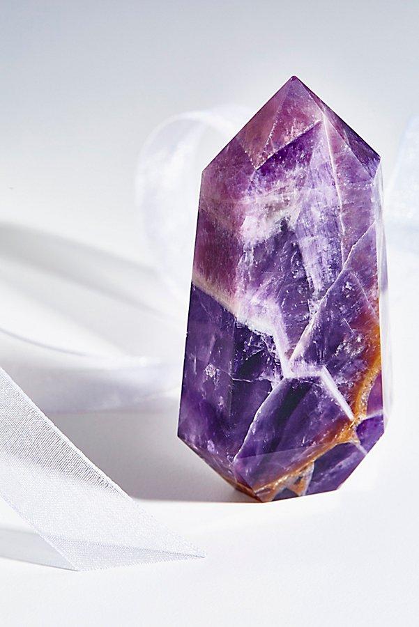 geometric amethyst crystal