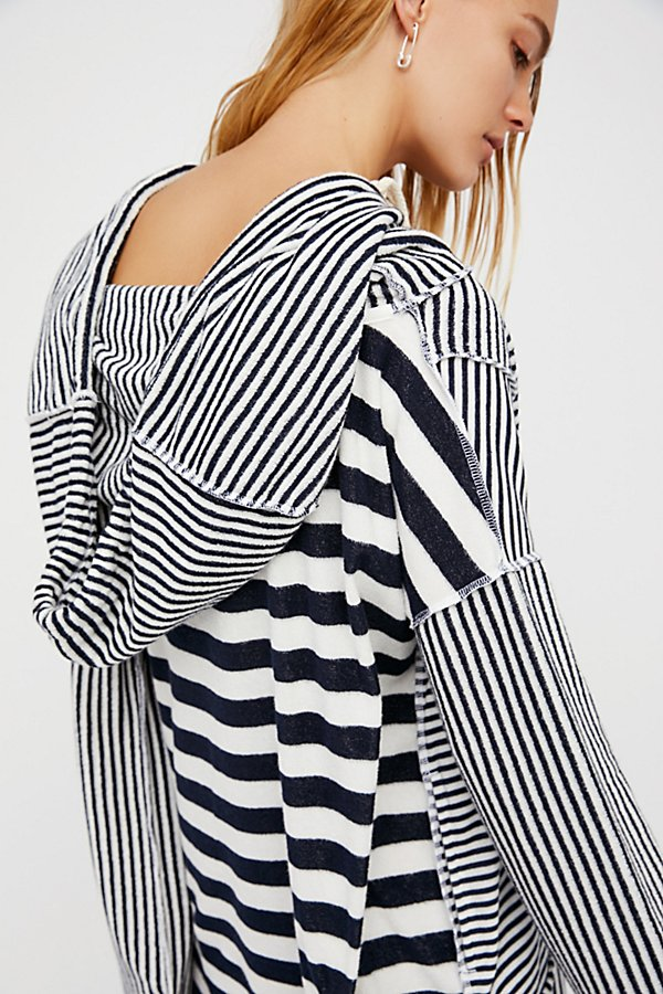 Slide View 4: Shoulders and Stripes Hoodie