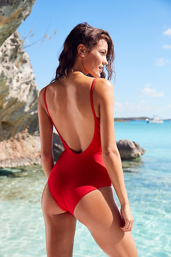 Slide View 3: Lila One Piece Swimsuit