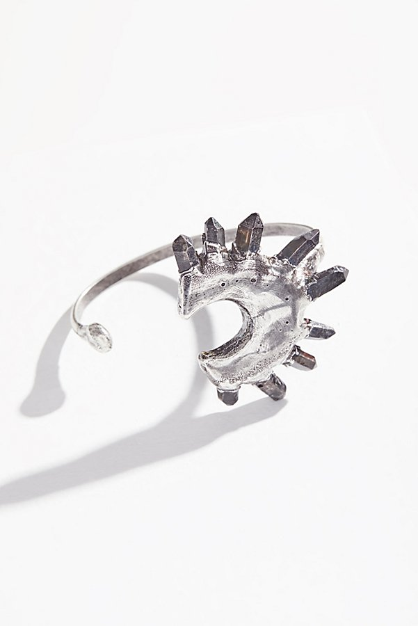 Slide View 2: Moonlight Raw Quartz Cuff