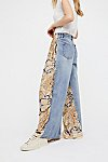 Thumbnail View 2: Coming and Going Printed Wide Leg Jeans