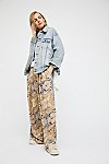Thumbnail View 3: Coming and Going Printed Wide Leg Jeans