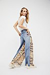 Thumbnail View 4: Coming and Going Printed Wide Leg Jeans