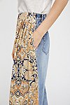 Thumbnail View 5: Coming and Going Printed Wide Leg Jeans