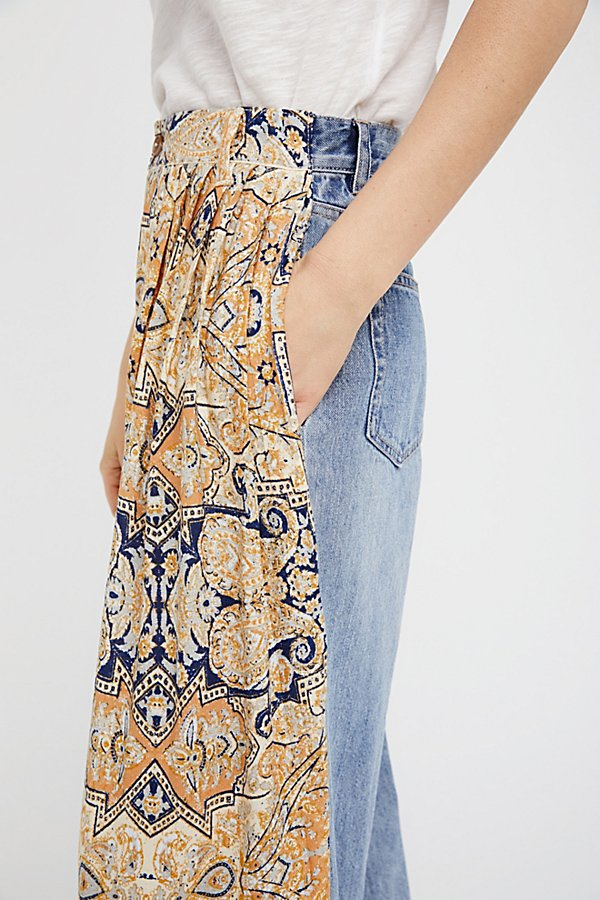 Slide View 5: Coming and Going Printed Wide Leg Jeans