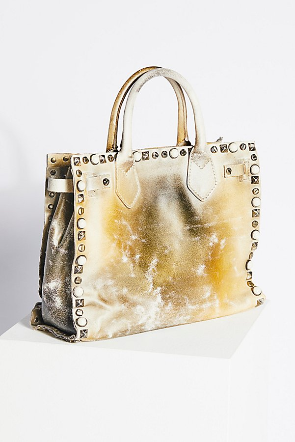 Slide View 3: Lila Distressed Leather Satchel