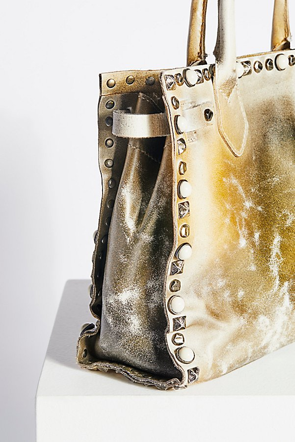 Slide View 4: Lila Distressed Leather Satchel