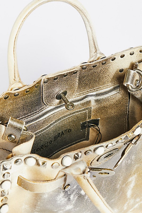 Slide View 5: Lila Distressed Leather Satchel