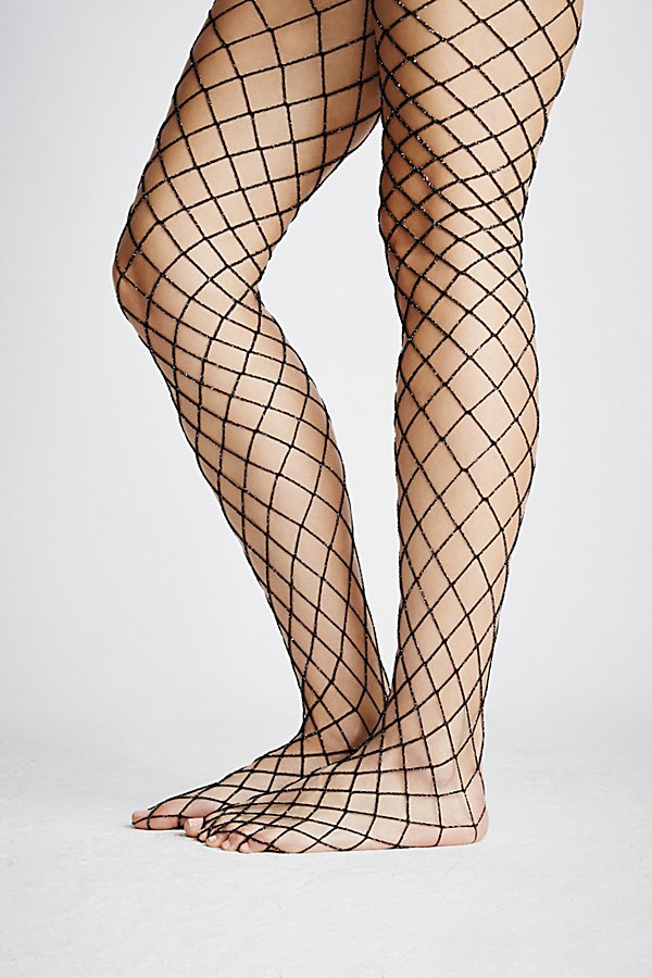Slide View 2: Moonlight Lurex Fishnet Tights