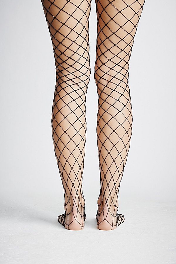 Slide View 4: Moonlight Lurex Fishnet Tights