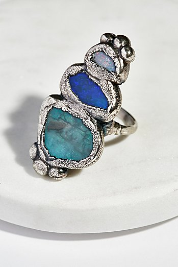 Paradox Triple Opal Ring