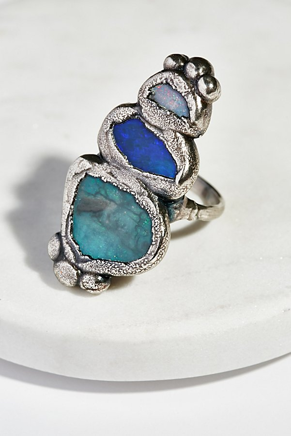 Slide View 1: Paradox Triple Opal Ring