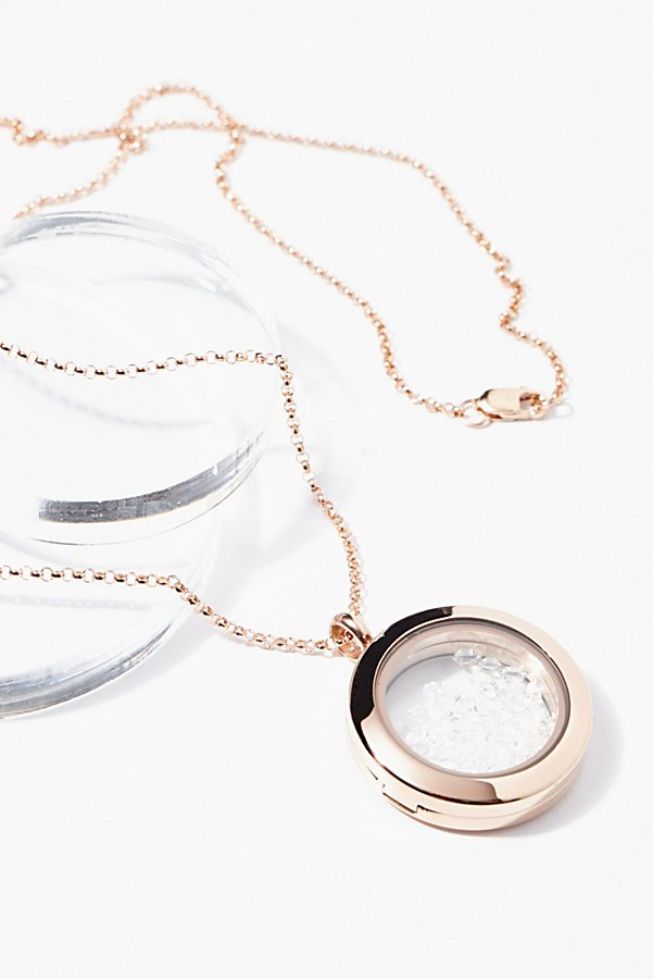 Slide View 1: Herkimer Crystal Shake Locket
