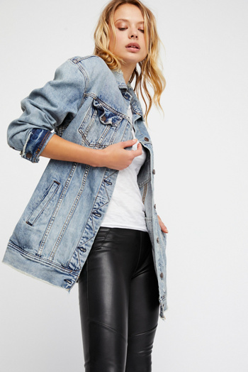 Slide View 1: Long Denim Jacket