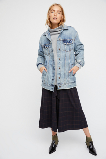 Slide View 6: Long Denim Jacket