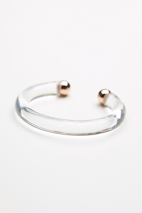 Slide View 3: Lucite Metal Open Cuff