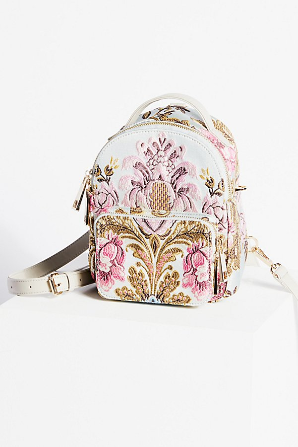 Slide View 1: Brocade Floral Mini Backpack