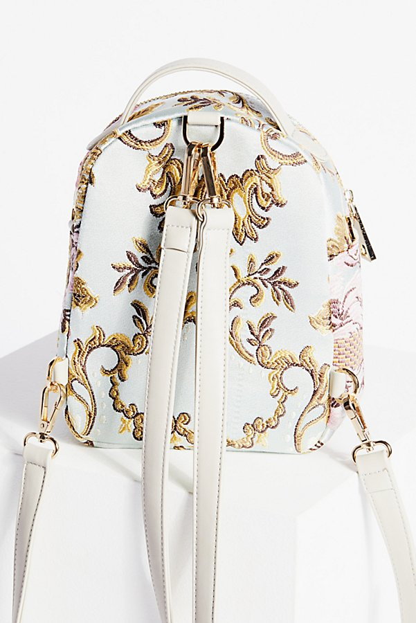 Slide View 2: Brocade Floral Mini Backpack