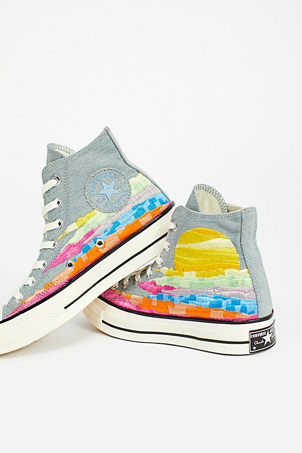 Slide View 1: Mara Hoffman x Converse High Top Trainers