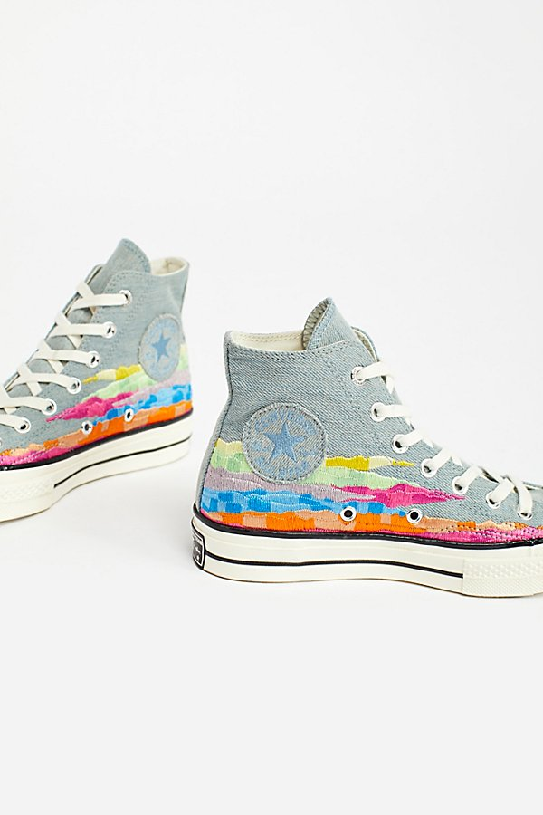 Slide View 3: Mara Hoffman x Converse High Top Trainers