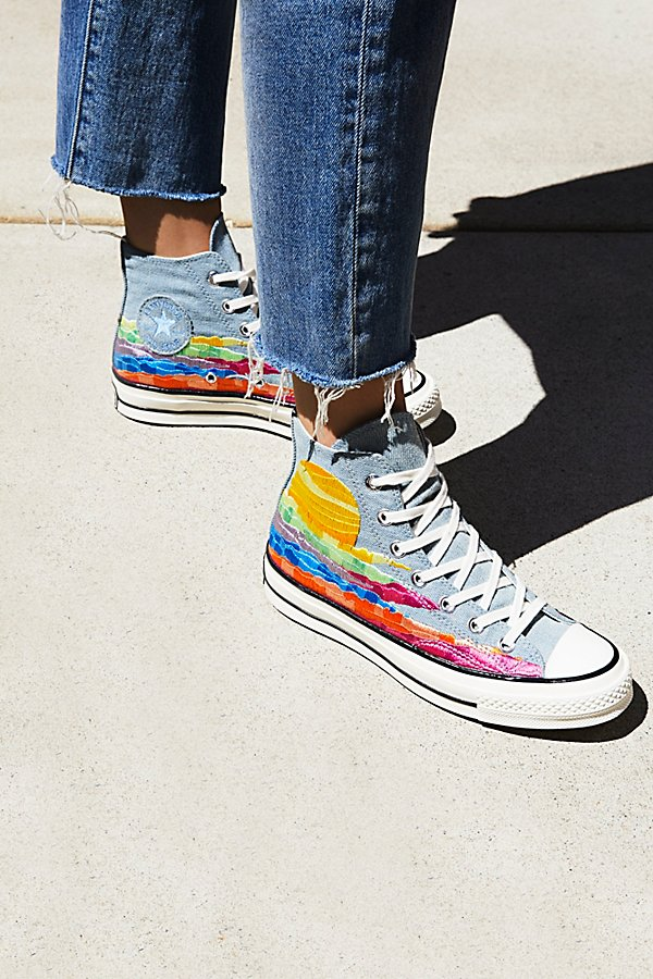 Slide View 5: Mara Hoffman x Converse High Top Trainers