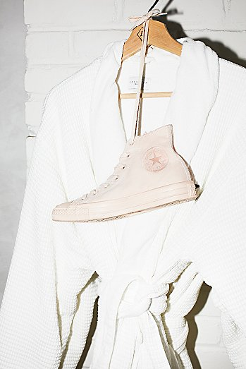 Mono Canvas High Top Trainers