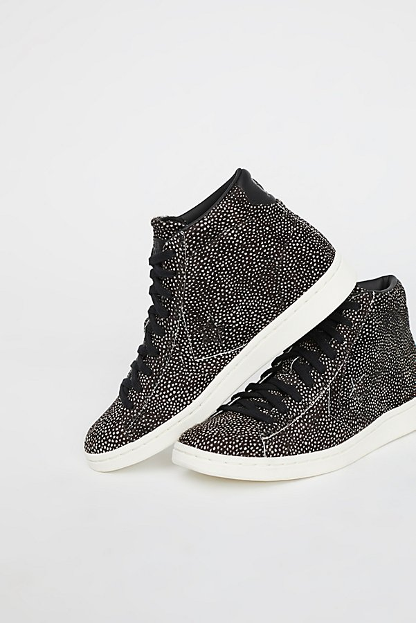 Slide View 2: Premium Faux Fur Hi-Top Trainer