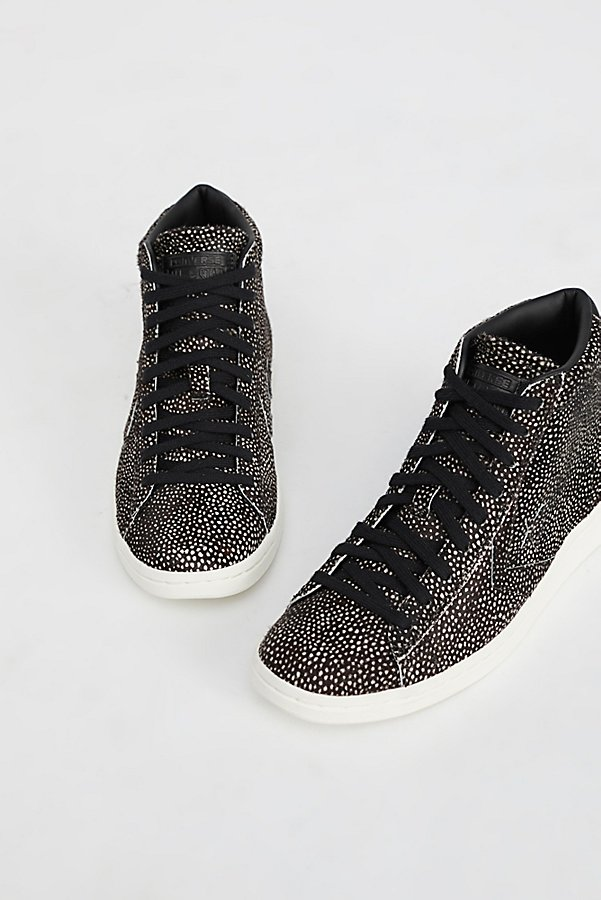 Slide View 3: Premium Faux Fur Hi-Top Trainer