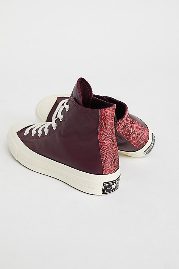 Slide View 1: Premium Leather High Top Sneakers