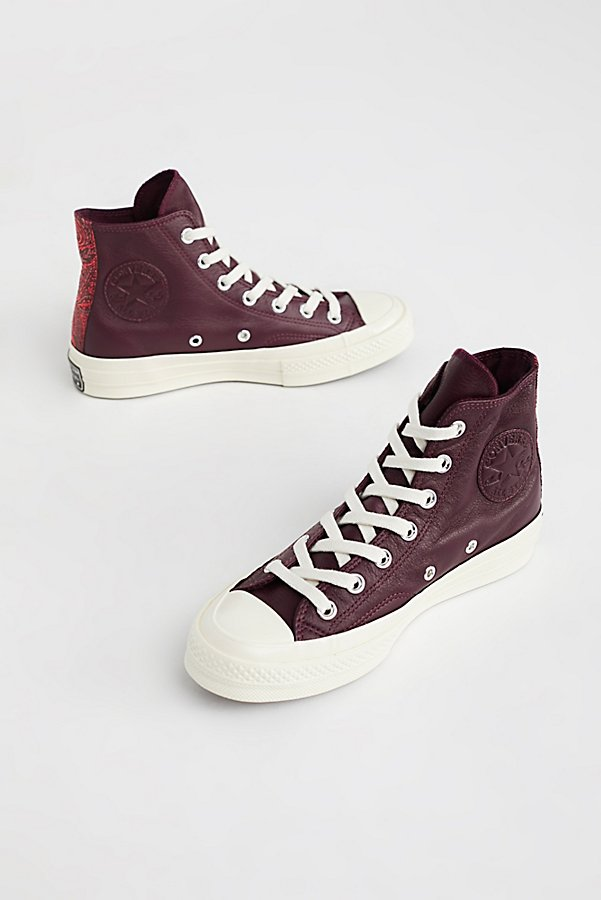 Slide View 2: Premium Leather High Top Sneakers