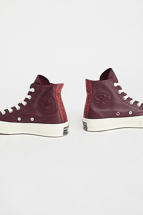 Slide View 3: Premium Leather High Top Sneakers