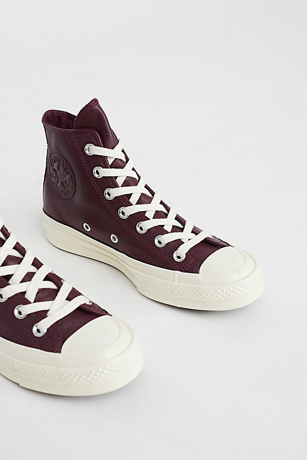 Slide View 4: Premium Leather High Top Sneakers