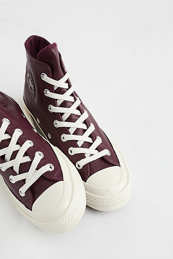 Slide View 5: Premium Leather High Top Sneakers