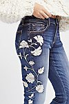 Thumbnail View 1: Jackie Embroidered Skinny Jeans