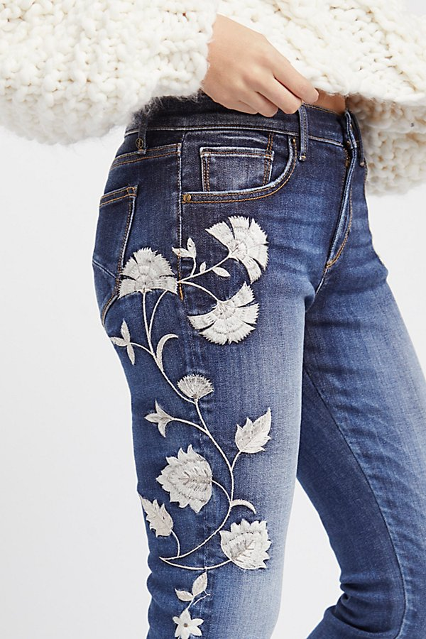 Slide View 1: Jackie Embroidered Skinny Jeans