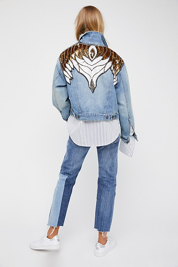 Slide View 4: Glam Embellished Denim Jacket
