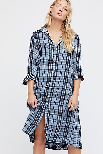 Doublecloth Plaid Maxi