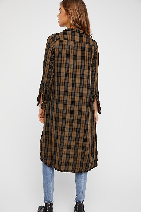 Slide View 2: Doublecloth Plaid Maxi