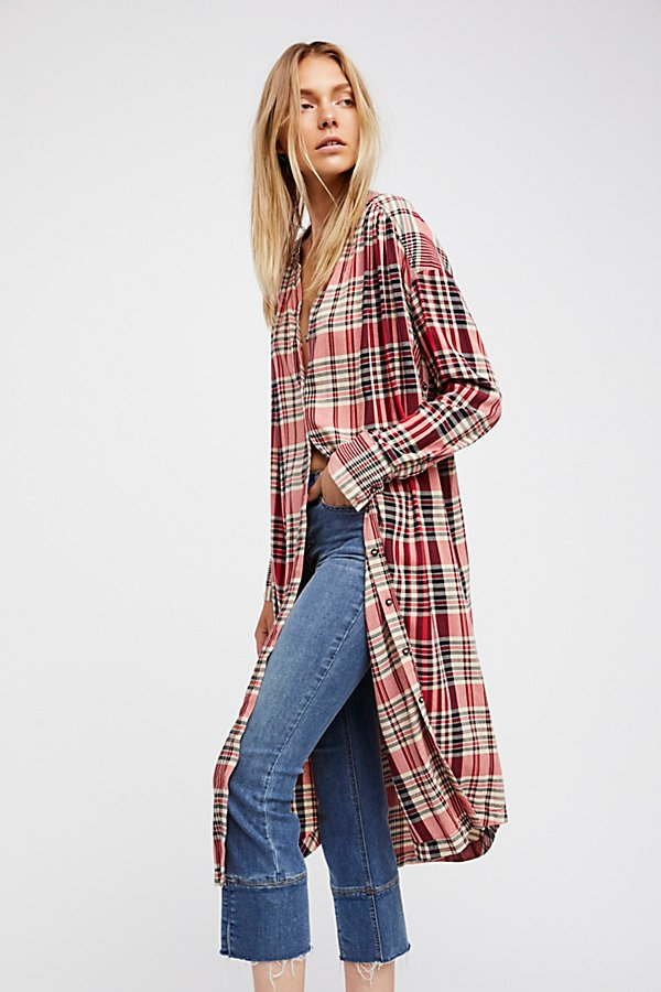 Slide View 1: Loralei Plaid Maxi Top