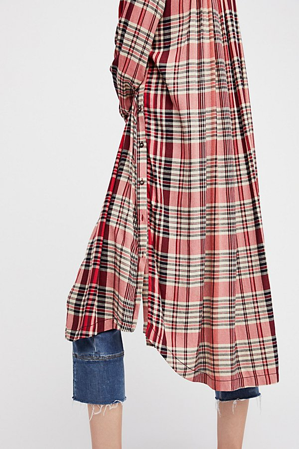 Slide View 4: Loralei Plaid Maxi Top