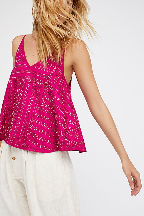 Slide View 1: Paths Cross Embellished Cami