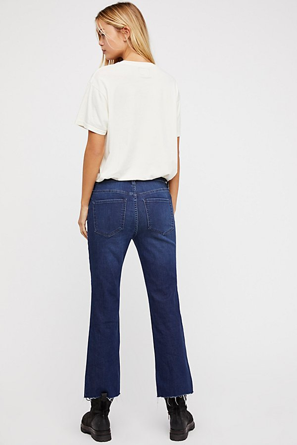 Slide View 2: Crop Button Front Jeans