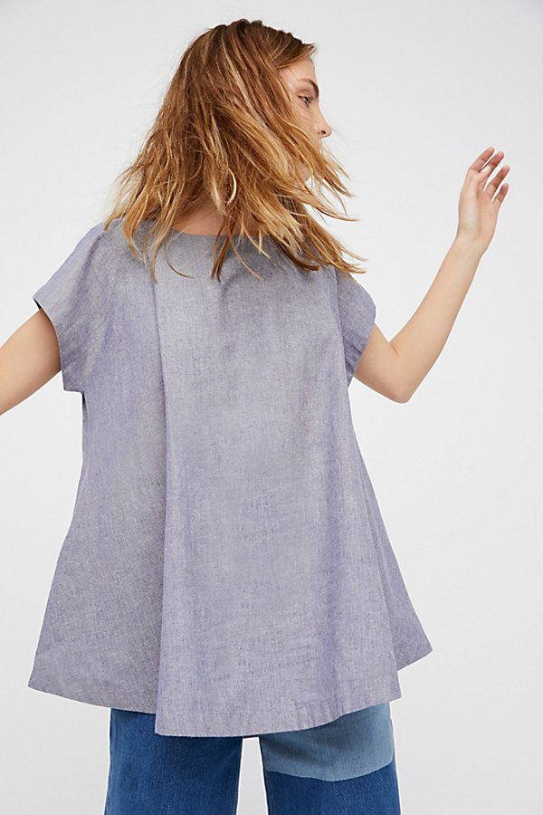 Slide View 1: Crazy Hearts Chambray Top